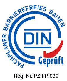 Fachplaner Barrierefreies Bauen - DIN geprüft - Reg. Nr. PZ-FP-030